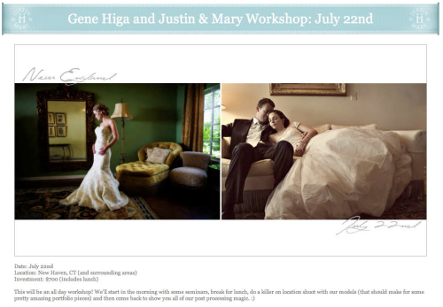 Gene Higa and Justin & Mary Workshop